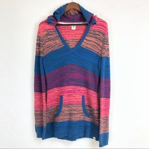 Roxy | Long Sleeve v-neck hoodie knit sweater